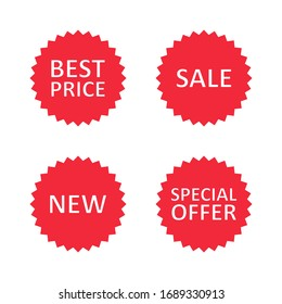 Business sale tag sticker set, label, web banner or poster, Vector business concept icon.