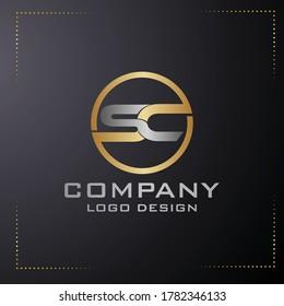 business SC letter logo design vector