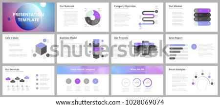 business science presentation templates vector infographic stock