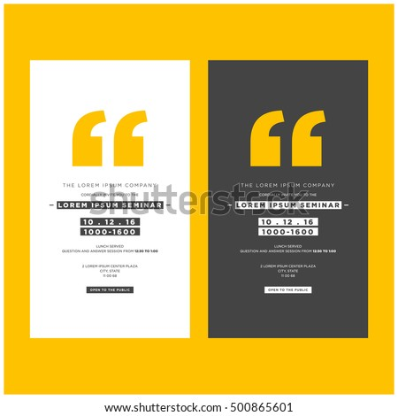 business seminar invitation design template with time date and venue details