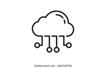 business seo, cloud computing line icon. Teamwork at the idea. Signs and symbols can be used for web, logo, mobile app, UI, UX