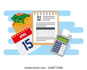 business service tax with dataphone and calendar