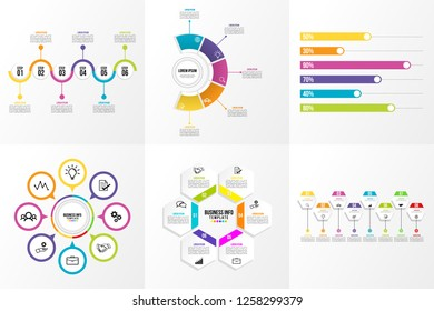 Business Set Infographics Elements Template Design Vector Editable most useful can be used for workflow, presentation, diagrams, annual report with options and steps