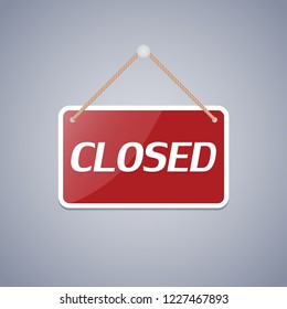 Business sign Closed for design. Vector illustration.
