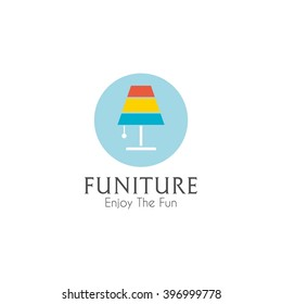 Business sign vector template for furniture store, home decor boutique design template. vector illustration