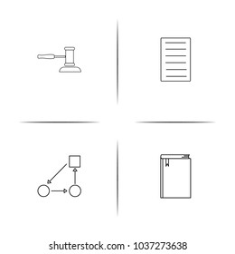Business simple linear icon set.Simple outline icons