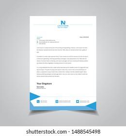 Business simple unique letterhead design