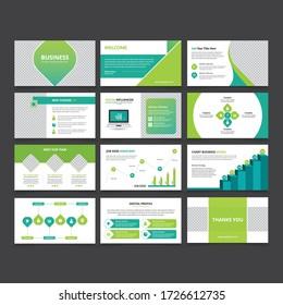 Business slide presentation Vector Template