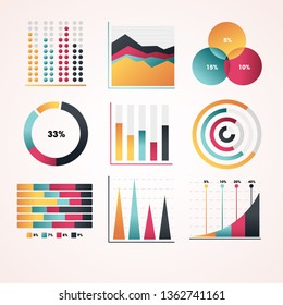 Business and social infographics design elements. Vector illustration.