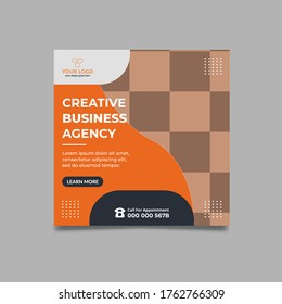 Business social media post template design- Corporate Social Media Banner Design - Instagram Post Design- 1080/1080pz Size-Square Social Media Banner Template