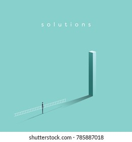 Business solution and creative idea vector concept. Symbol of achievement, success, motivation and ambition. Eps10 vector illustration.