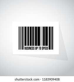 Business up to speed barcode sign concept illustration isolated over a white background