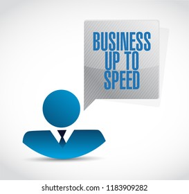 Business up to speed businessman communication message illustration isolated over a white background