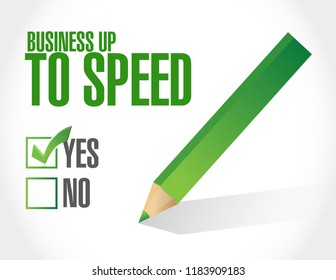 Business up to speed feedback survey concept illustration isolated over a white background