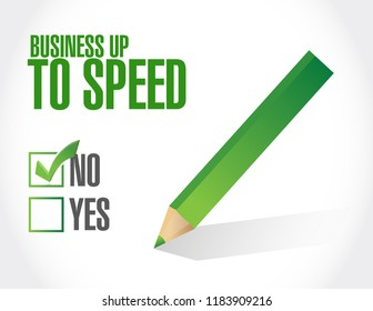 Business up to speed feedback survey concept isolated over a white background