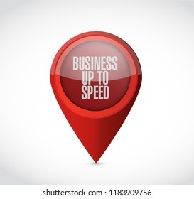 Business up to speed point locator isolated over a white background
