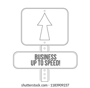 Business up to speed stylish typography copy message isolated over a white background
