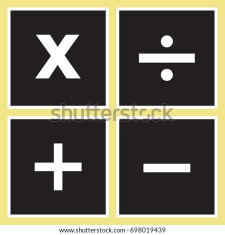 Vector square math calculator app icon stock vector (royalty free.
