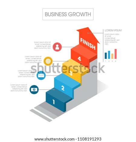 business staircase diagram template vector illustration stock vector