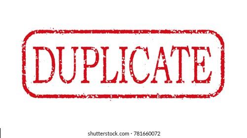 "business stamp illustration ""DUPLICATE""."
