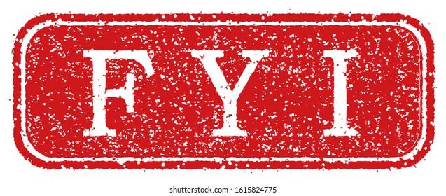 business stamp vector illustration / FYI