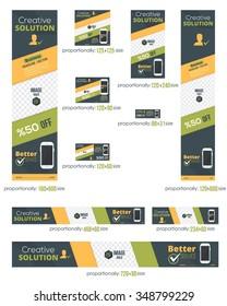 Business Standard 10 Sizes Website Banners Template Set