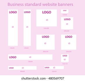 Business standard website banners template set