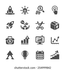 business start up icon set, vector eps10.