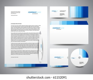 Letterhead template images stock photos vectors shutterstock business stationery template blue friedricerecipe Choice Image