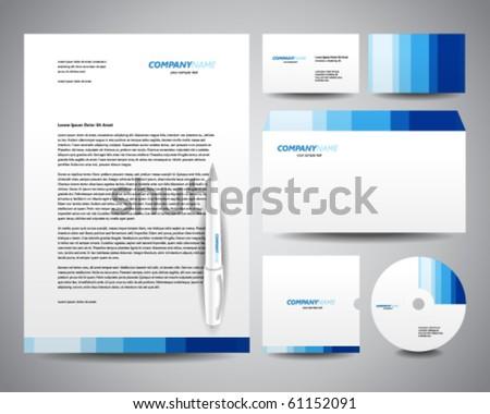 business stationery template blue のベクター画像素材 ロイヤリティ