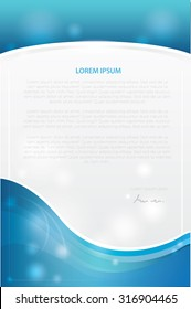 Business stationery templates. Abstract brochure design,blue colour