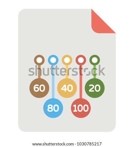 business statistical report presentation template stock vector