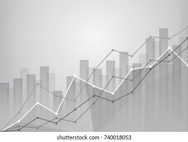 business statistics chart showing various visualization graphs