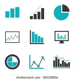 Business statistics design, vector illustration eps 10.