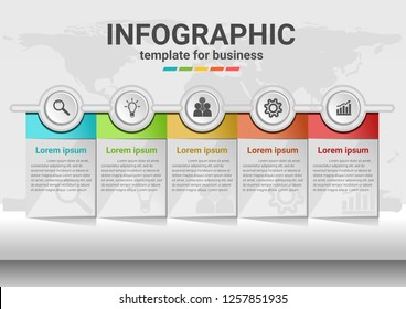 Business steps to success Infographic data.Presentation chart.diagram with steps template.Creative vector illustration.