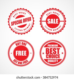 Business stickers and tags. Vector illustration.