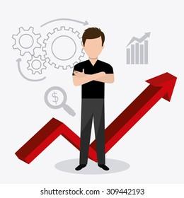 Business strategy design, vector illustration eps 10.