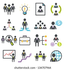 Business, strategy and Human resource. People management icons Harmony series icons.