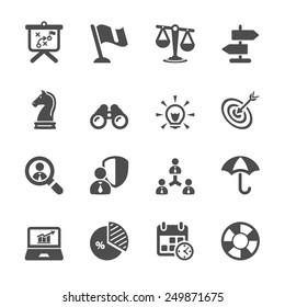 business and strategy icon set 2, vector eps10.
