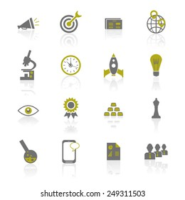 Business Strategy Icon Set - Illustration