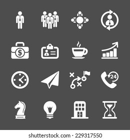 business strategy icon set, vector eps10.
