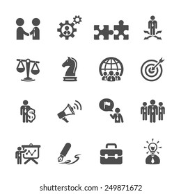 business and strategy icon set, vector eps10.
