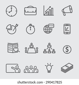Business strategy and management icons