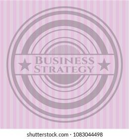 Business Strategy pink emblem