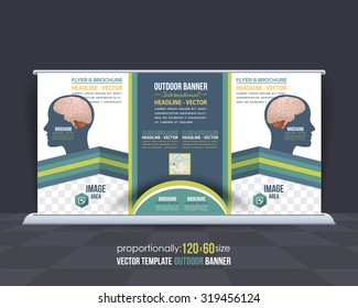 Business Strategy Theme Outdoor Banner or Horizontal Website Banner Design, Advertising Vector Design Template