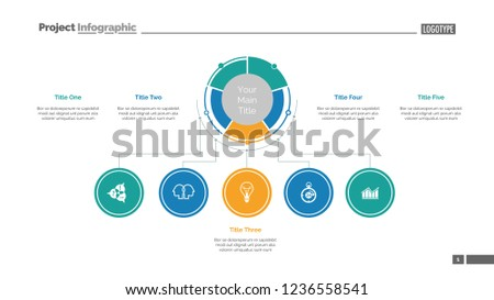Business Structure Slide Template Business Data Stock Vector