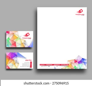 Business Style Corporate Identity Leterhead, Business Card Template.