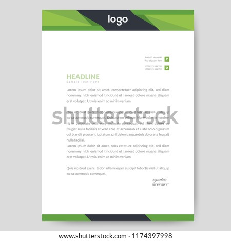 business style letter head design templates for your project design vector illustration