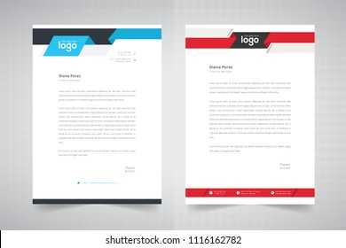 Business style letter head templates for your project design, Vector illustration.