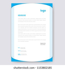 Letterhead template images stock photos vectors shutterstock business style letter head templates for your project design vector illustration friedricerecipe Choice Image